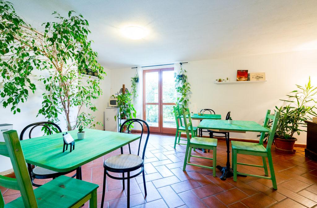 Sala in green e bianco